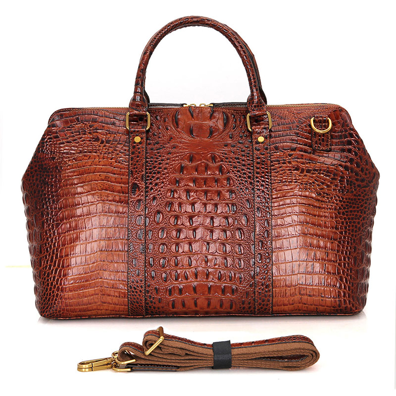 Large Capacity Travel 17 Laptop Bag Men 2018 Brown Handbag Design Weekend Vintage Cow Leather Travel Durable Duffle Bags