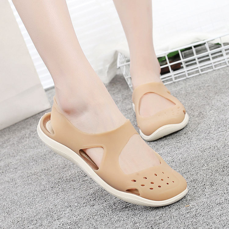 HTB1iVB4bELrK1Rjy1zbq6AenFXan - Women's Sandals Fashion Lady Girl Sandals Summer Women Casual Jelly Shoes Sandals Hollow Out Mesh Flats Beach Sandals