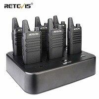 שתי דרך רדיו 6pcs Retevis RT622 / RT22 שתי דרך רדיו מיני מכשיר הקשר + שש Way מטען PMR VOX Portable מכשיר קשר עבור מלון / מסעדה (1)