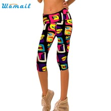 b9cce543bd 2017 Best Deal Hot Women High Waist Fitness Yoga Sport Pants Female Printed  Stretch Cropped Leggings Pants Good-looking AU 19