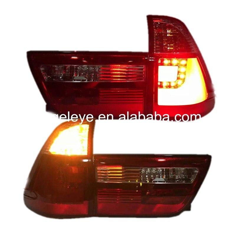 For BMW X5 E53 LED Strip Tail Lights Rear Lamp  back light 1998--2002 year Red Color JY автомобильный коврик seintex 00984 для bmw x5 e 53