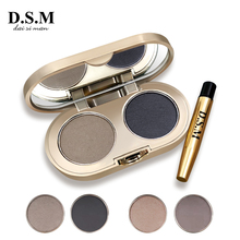 D.S.M Professional бровей порошок 2 цвета водостойкие брови без пятен глаз бровей Макияж Палитра теней для век Косметика Макияж комплект