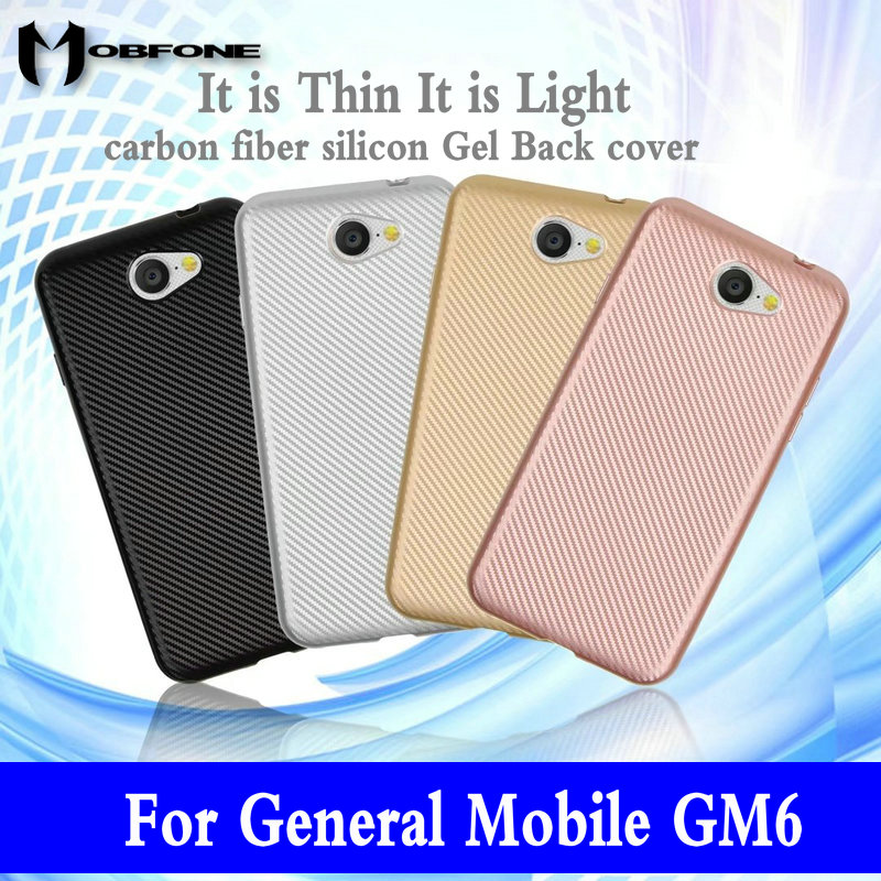 Vintage Elegant Carbon Fiber Skin Back Cover for General Mobile GM6 GM 6 GM8 GM5 Plus Soft TPU Silicon Gel Phone Case Shell image
