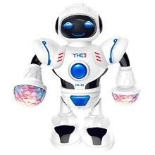 Умный мини-робот, Веселый робот, танцующий робот, игрушка, светодиодный светильник, музыкальный танцевальный робот Hyun