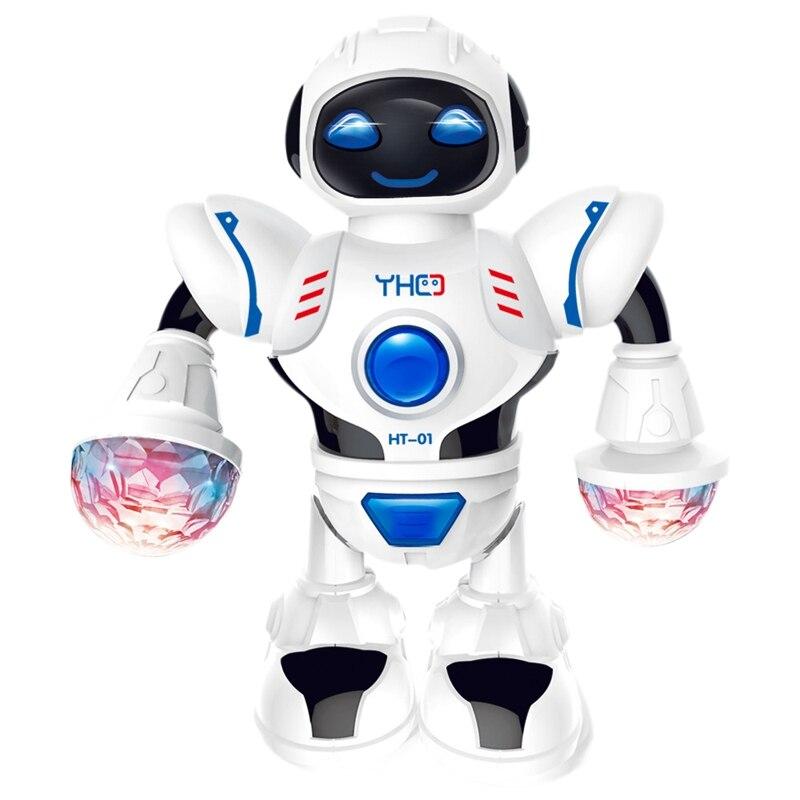 Mini Robot inteligente divertido Robot de baile Robot de juguete Led de luz de música Hyun Robot de baile