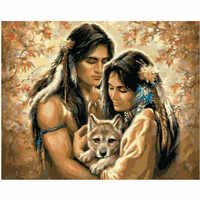 Husband and wife figure DIY Digital Painting By Number Modern Wall Art Canvas Painting Christmas Unique Gift Room Decor 40x50