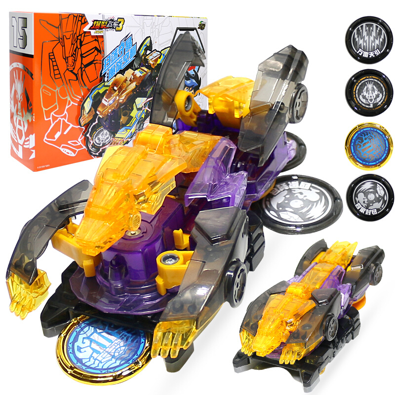 Transformation Wafer Action-Figures Screechers Wild Car Newest 360-Degree Toy Capture