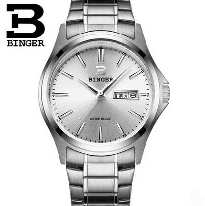 BINGER Business Best Watch For Men Classic Simple Steel Band 30m waterproof  relogio masculino free shipping B-3052M best band куртка для мальчика be380323 коричневый best band