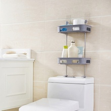 1pcs Plastic Toilet Towel Storage Rack Holder Over Bathroom Shelf Organizer