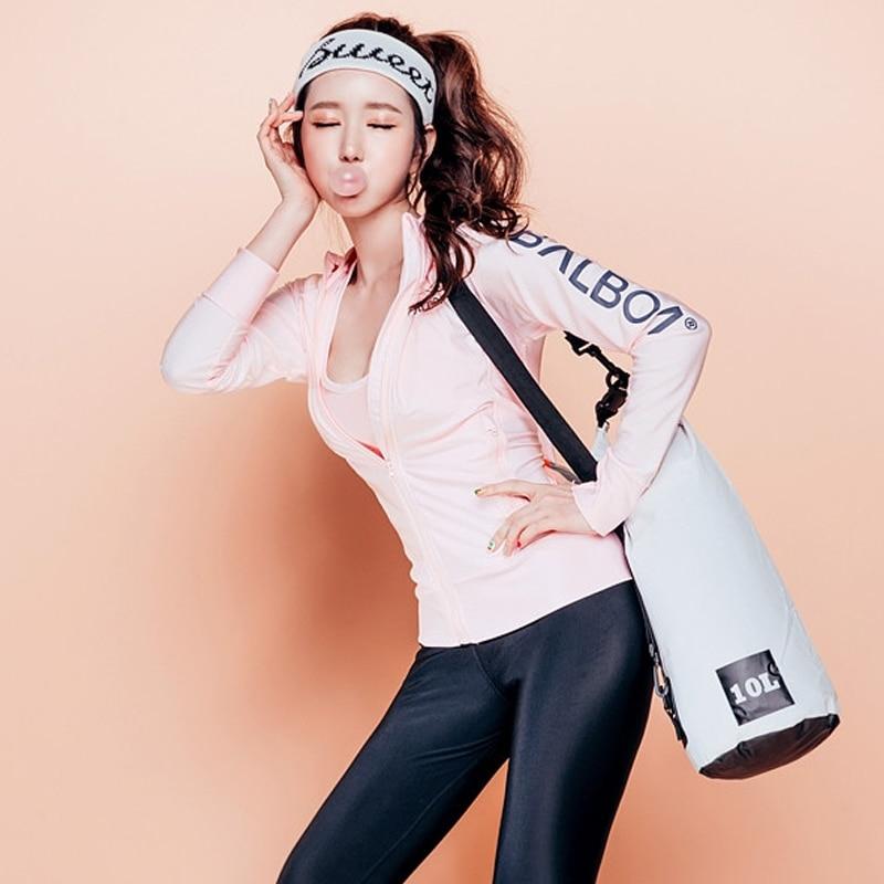 ФОТО Swimwear Rash Guard Used For Swimming And Surfing Suit Nylon Pink Zipper Coat For Women`s