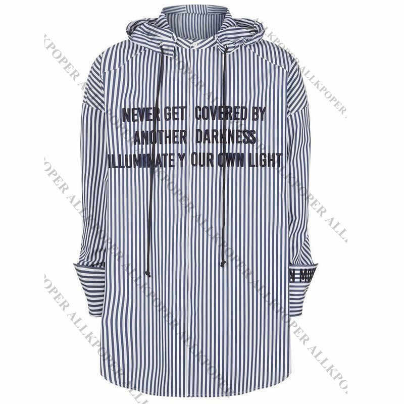 89ed3abe9f ... ALLKPOPER KPOP BTS JIMIN Striped Shirt Bangtan Boys Wings Fansigning  Embroidery Blouse Gift Keychain ...