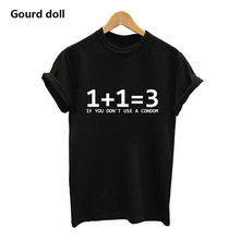 Harajuku Math Problem Funny T Shirts Women Summer Fashion Mathematical Arithmetic Cotton T-shirt Cute Tops Female tops white(China)