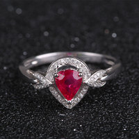 Robira Merk 1ct Ruby Trouwringen 18 K Gold Ring Red Ruby Edelsteen Jewlery Vinger Ringen voor Vrouwen Groothandel Nieuwe collectie