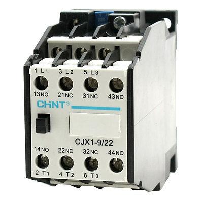 CJX1-9/22 AC Contactor 220V/50HZ 264V/60Hz Coil 3-Phase 2NC 2NO
