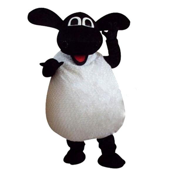 Shaun le mouton mascotte Costume mouton noir agneau mascotte Costume chèvre mascotte Costume déguisement Halloween Cosplay Costume - 4