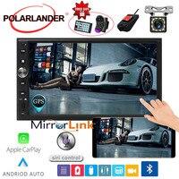 7'' 2 DIN Car Radio Autoradio Mirror link GPS Navi Touch Screen Multimedia FM For Iphone Carplay & Android Bluetooth MP5