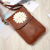 KISSCASE Universal Shoulder Bag Wallet Leather Case For IPhone 6 6S 7 Plus For Samsung S8