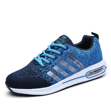 Men's Sneaker Light Breathable Human Race Sport Shoes Max Air Brand Sneakers Fly Weave Men Running Shoes EU Size 38-44