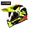 2017 Genuino LS2 MX436 doble lente Motocross Casco profesional casco de la motocicleta off road cross racing cascos ECE aprobado