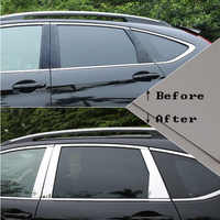 For Honda CRV CR-V accessories 2012/13/14/15/16/17 Stainless steel Window Trims Center Pillars Covers