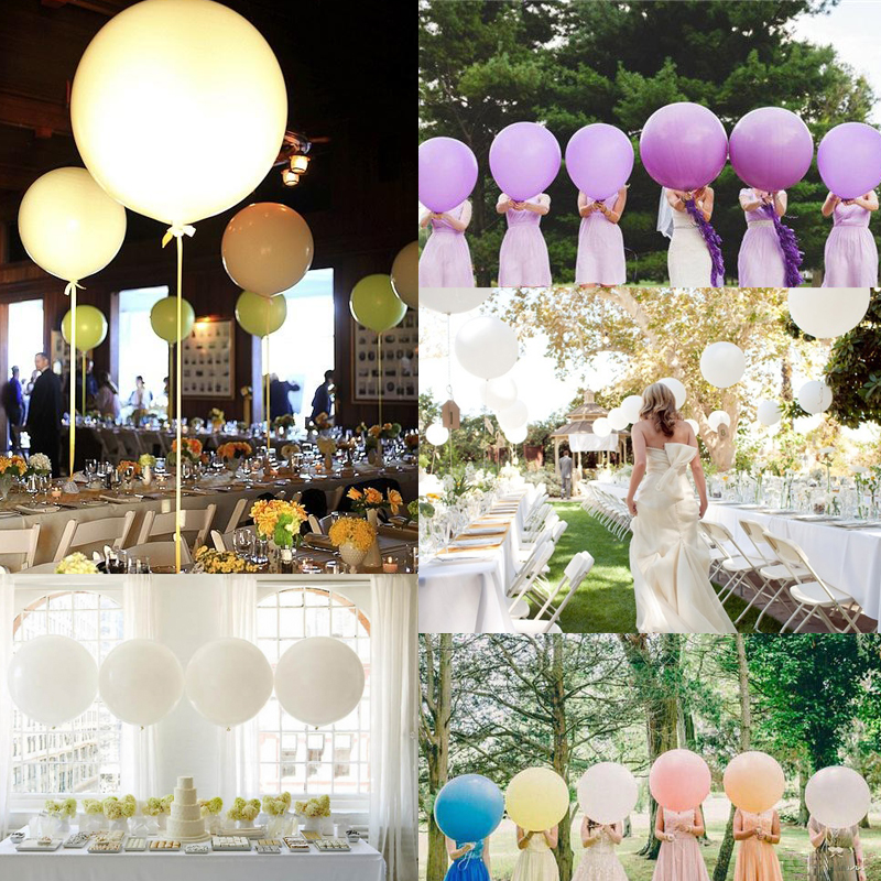 4pcs 36 90cm Helium Latex Party Large Giant Balloons Decoration Metallic Inflatable Air Wedding In Ballons Accessories From