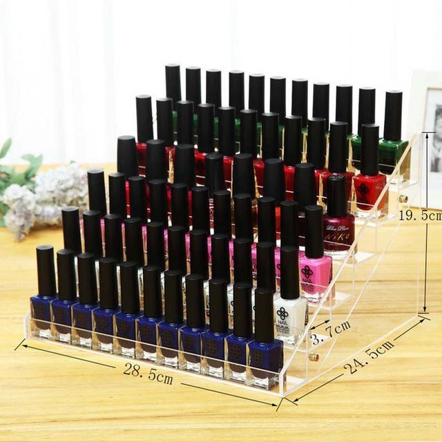 Clear Acrylic 6 Tiers Nail Polish Rack Household Makeup Tool Holder ...