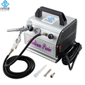 OPHIR Pro Airbrush Compressor Kit Dual Action Airbrush Set voor Cake Decorating Nail Art Model Speelgoed Verf Lichaam Tattoo_AC088 + AC004A