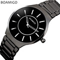 Relogio Masculino men quartz watch black steel wristwatch fashion casual dress business clock male 2016 BOAMIGO brand waterproof