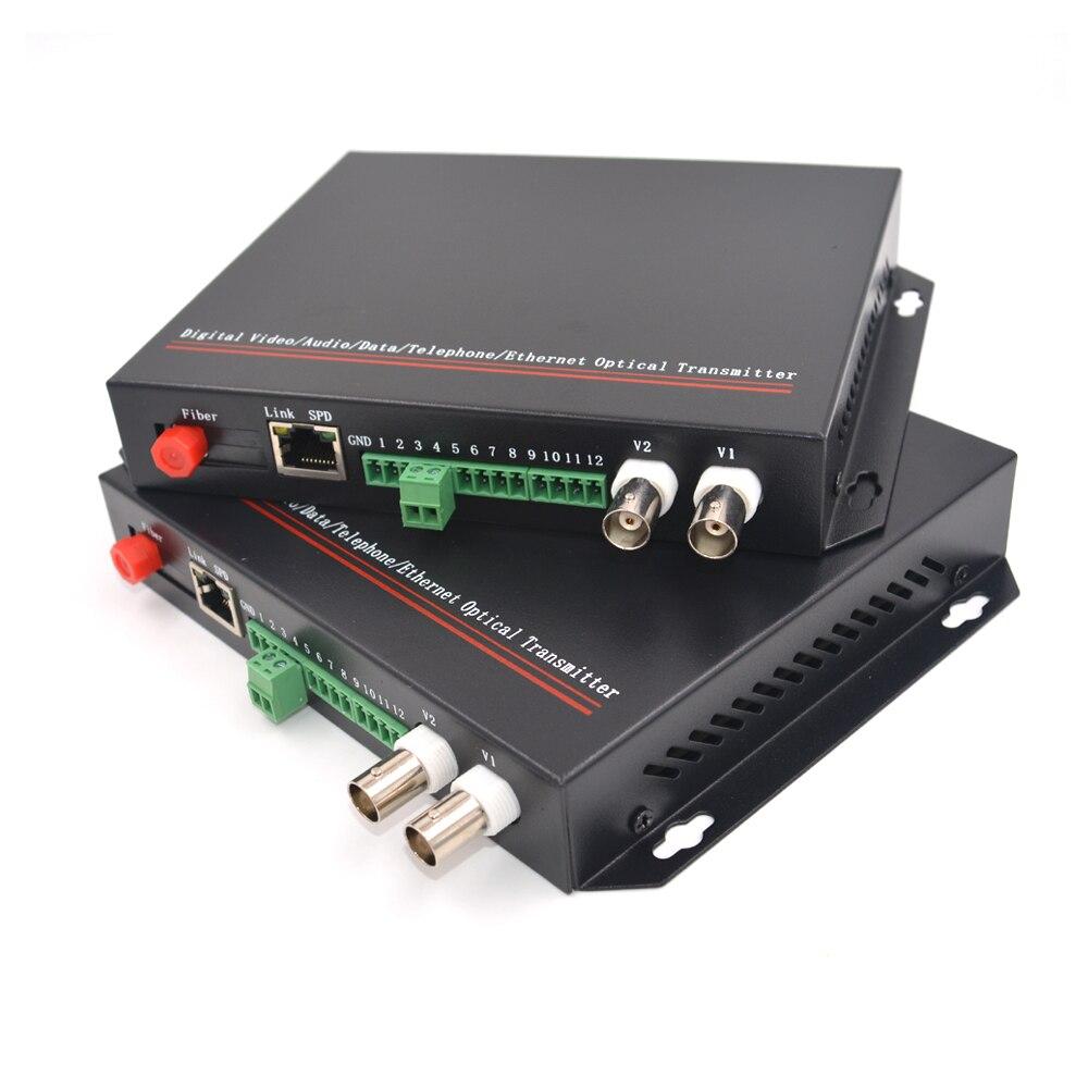 Convertisseurs de médias optiques de Fiber de données de vidéo/Ethernet/RS485 (émetteur et récepteur un kit)-FC Singlemode 20Km adapté aux besoins du client
