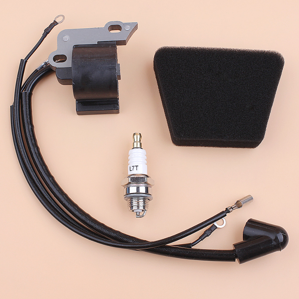 Ignition Coil Module Spark Plug Kit For Partner 350 351 Mcculloch Mac 335 435 440 Gasoline Chainsaw Spare Parts