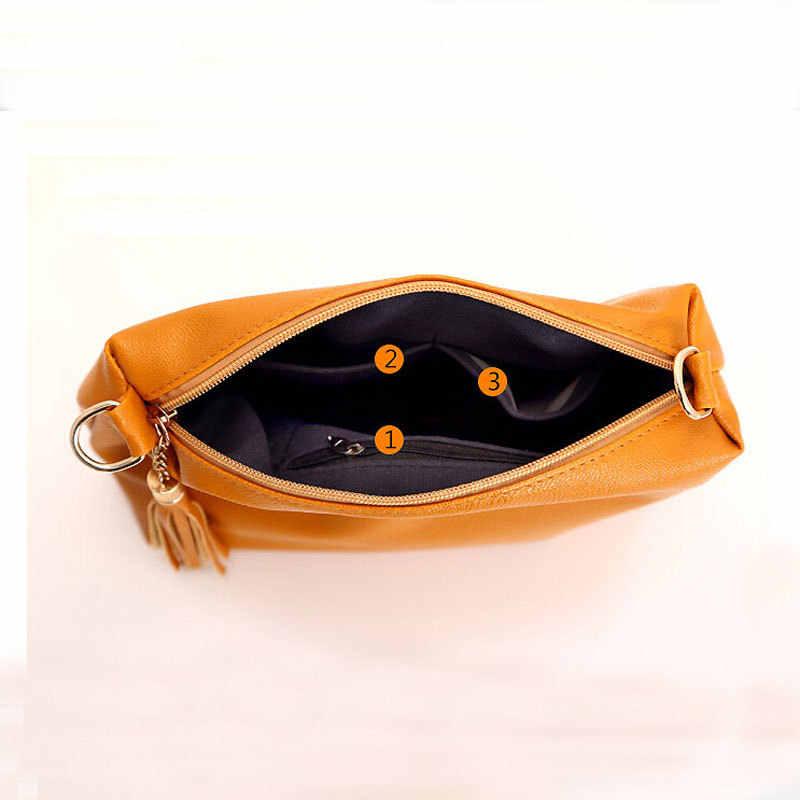 REPRCLA fringe crossbody grife mulheres marca de Moda bolsa de couro macio bolsa de ombro mulheres messenger bags doce cor A866
