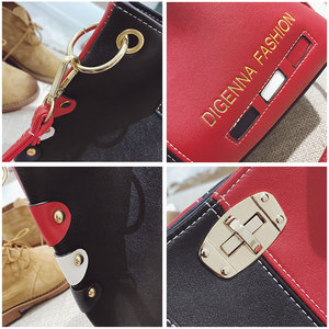Image 3 - Luxury Handbags Women Bags Designer Womens Panelled Message Bag Female Leather Crossbody Bag Lock Shoulder Bags For Women 2020