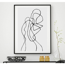 Abstract Canvas Painting Black Line Print Picture Nude Decorative Wall Art Living Room Decoration Poster Pictures