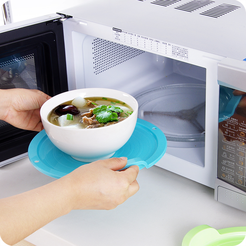 Vanzlife Multifunctional Plastic Microwave Oven Tray Dish Hot Insulation Anti Turntable Support Plates