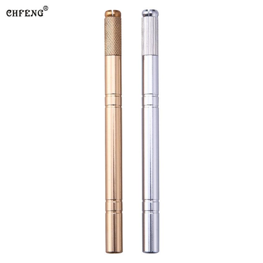 Tebori Pen with 2pcs 14U Needle Microblading Pen Tattoo Machine for Permanent Makeup Eyebrow Tattoo Manual Pen Microblading Tool