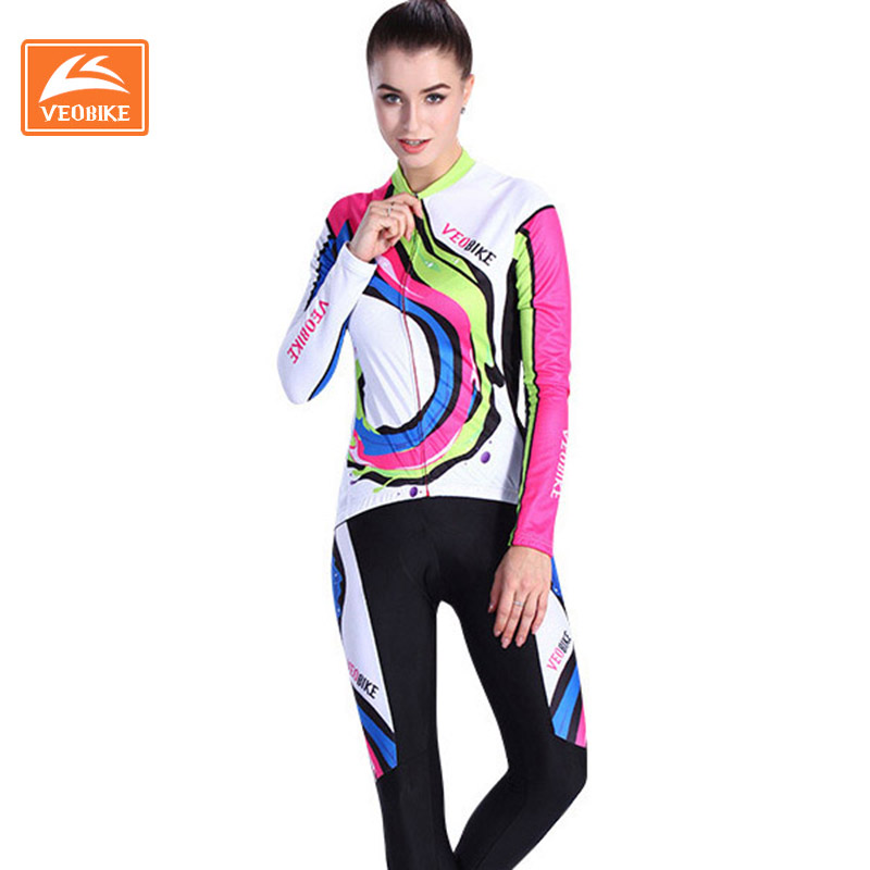 Cycling Jersey Autumn Professional Girls Bicycle Clothing Long Sleeve Set MTB Ropa Ciclismo Bicicleta Sports Wear batfox women s cycling clothing green color summer short sleeve bicycle jersey kits ropa ciclismo bicicleta cycling wear shorts