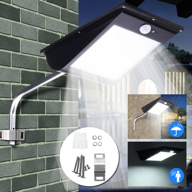 8W 6V 81 LED Solar Light Solar Power PIR Motion Sensor Security LED Street Wall Light Lamp Outdoor Garden Lamp Waterproof