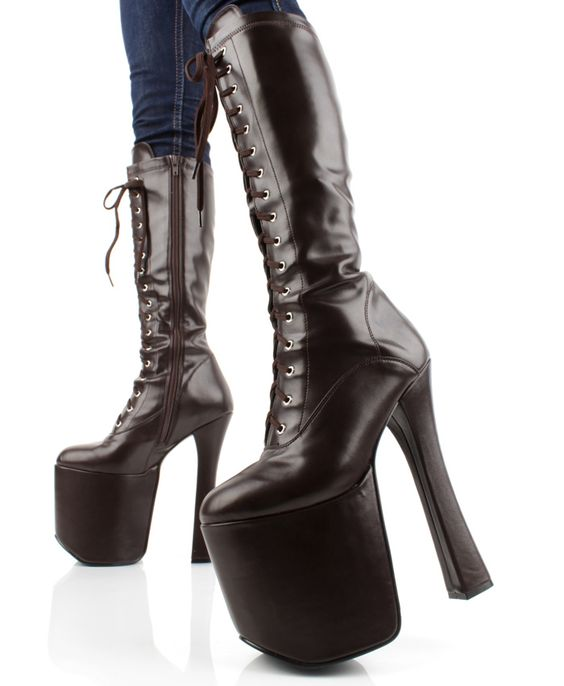 20Cm High Heels Cosplay Women Boots 9Cm Platforms Plus Size 12 Unisex Boots Round Toe Lace-Up Front New Arrival 2017 цена
