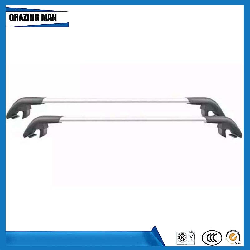 Haute qualité 2 pcs En alliage D'aluminium toit rack rail croix bar fit pour IX45 13 + Porte-Bagages