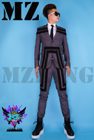 New Singers EXO Suit Men's Brand Dark Grey Article Black.Suit Pant Stage Costumes Formal Dress party costumes! S 5XL =