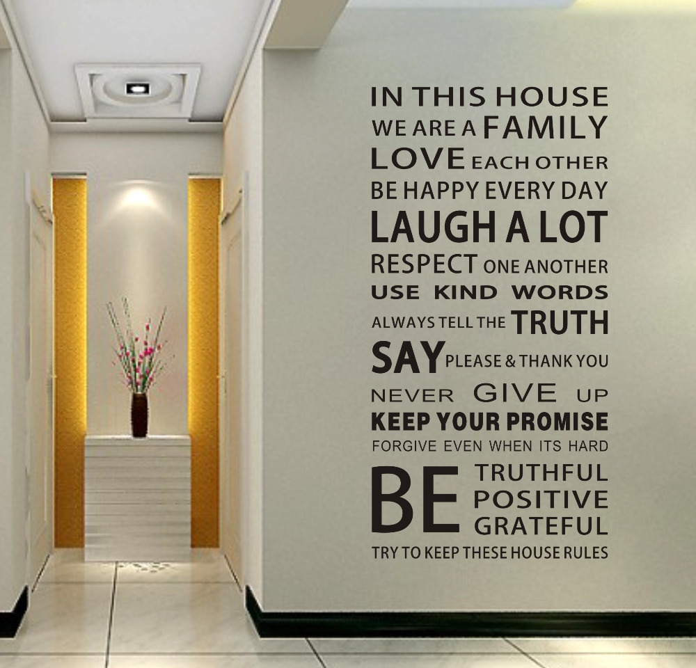 Hot Ebay Loving Quotes Family House Rules Urban Decal Home Design Wall Sticker 2pcs Lot