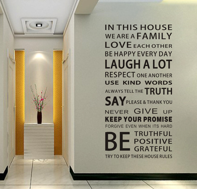 Home Design Rules Part - 20: Hot Ebay Loving Quotes Family House Rules Urban Decal Home Design Wall  Sticker 2pcs / Lot