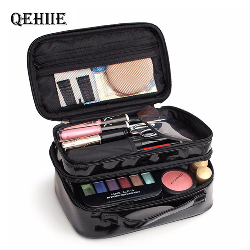 New Travel Organizer Cosmetic Bag Cute Professional Makeup Case Double Waterproof Necessarie Feminina Beauty Pouch Toiletry Bags