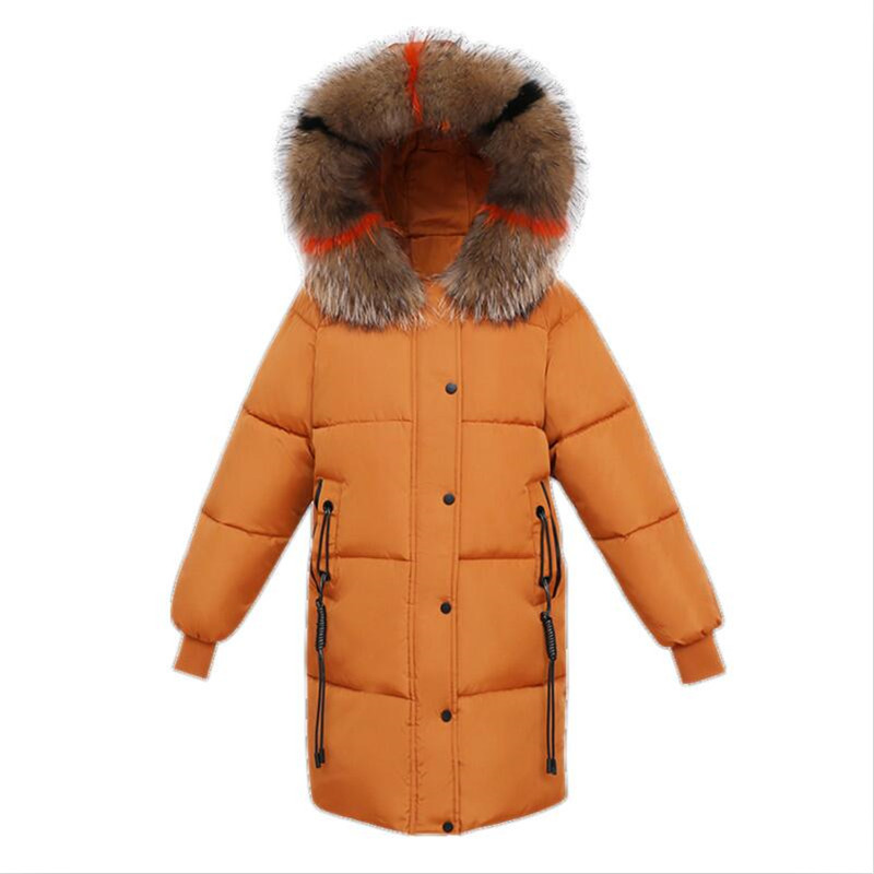 Large Size Women Winter Coat Thick Warm Fur Collar Hooded Padded Down Female Jacket Girls Cotton   Parkas   Coat