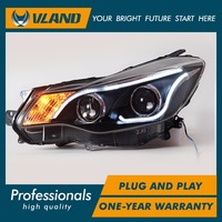 Car Styling For Subaru XV Headlights 201 2014 LED Head Lamp Angel Eye Led DRL Front