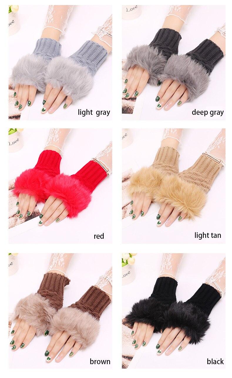 Winter Knitted Gloves New Wrist Trim Gloves 11