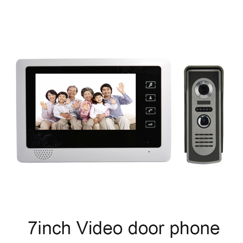 (1 set) 7 inch HD 1 to 1 Color panel Video Door Phone Home use talk-back long distance visible intercom access control system цена