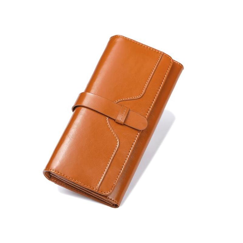Maillusion Fashion Designer Geniuen Leather Wallets Women Hasp Long Ladies Clutch Wallets Female Purse Card Holder Phone Pocket