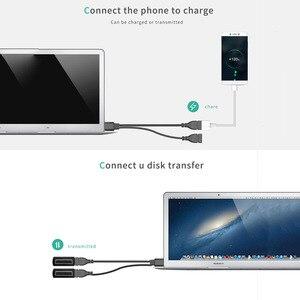 Image 3 - Podwójne USB rozszerzenie A męski na 2 A kabel żeński typu konwerter zasilacz USB2.0 męski na 2 podwójne USB żeńskie Y rozgałęźnik ładowania