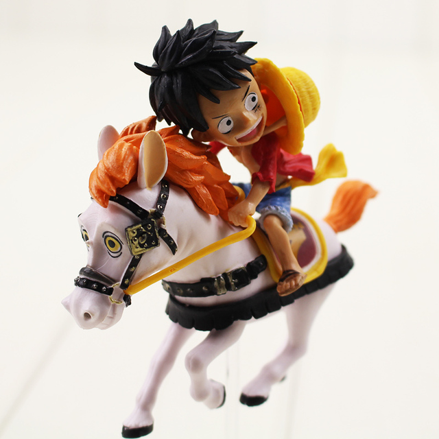 13cm luffy ride horse pvc action figure toys anime one piece luffy 20th  anniversary figure toys 66758b245840